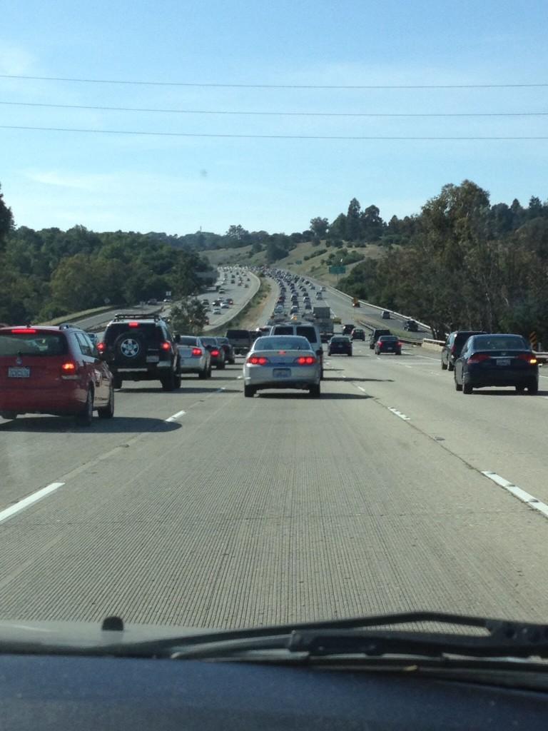 通勤ラッシュ時のサンフランシスコベイエリア