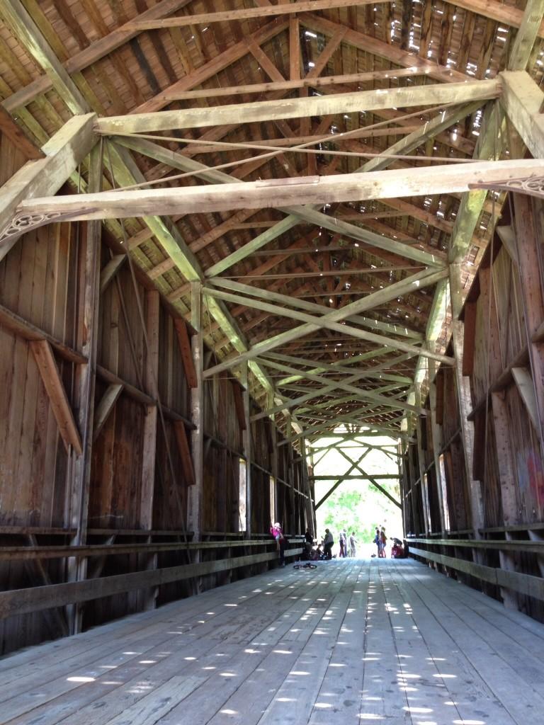 Inside Felton Covered Bridge