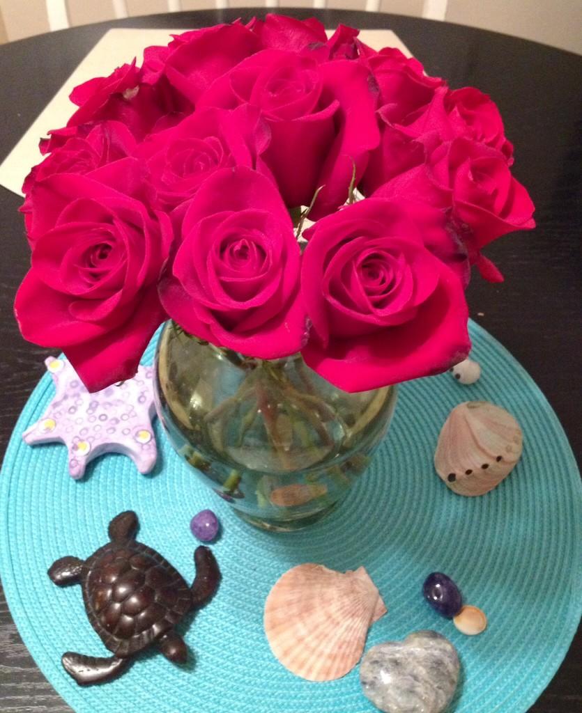 結婚記念日のバラの花束