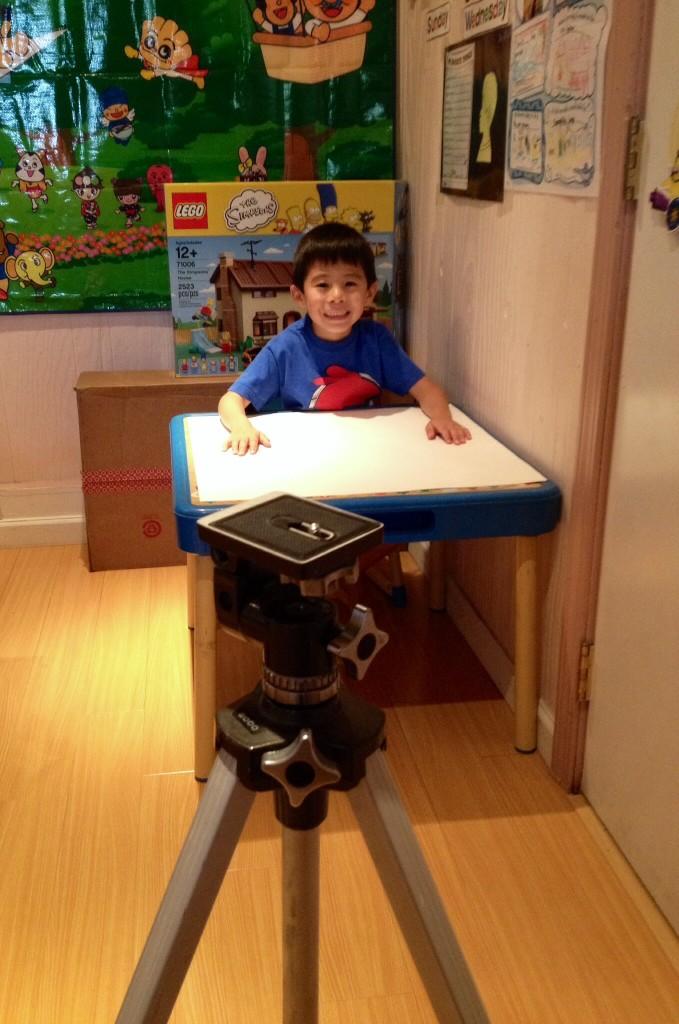 子供部屋のビデオ収録スタジオ