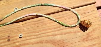 トルマリンのグラデーションカラーネックレス