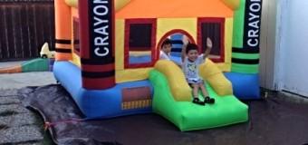 我が家にジャンプハウスがやってきた!