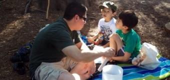 クリスタルボウルと一緒に家族で森林浴