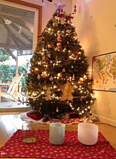 クリスマスイブにやって来たクリスタルボウル