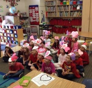 バレンタインの学校イベント