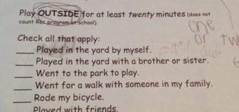 ちょっぴり変わったアメリカの学校の宿題