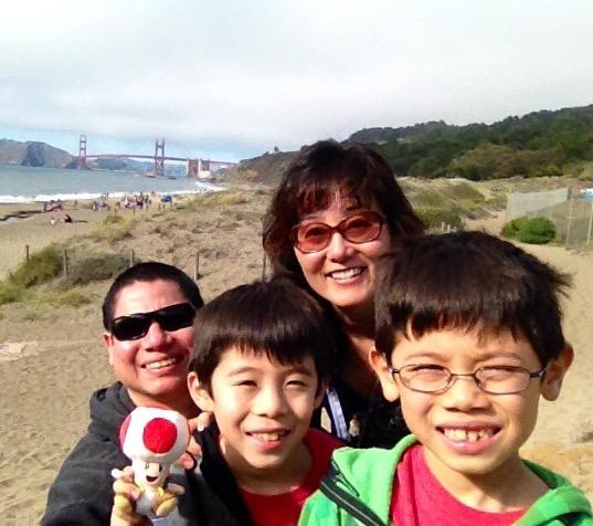 サンフランシスコのビーチにて
