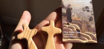 ベツレヘムのオリーブの木で作られたクロス