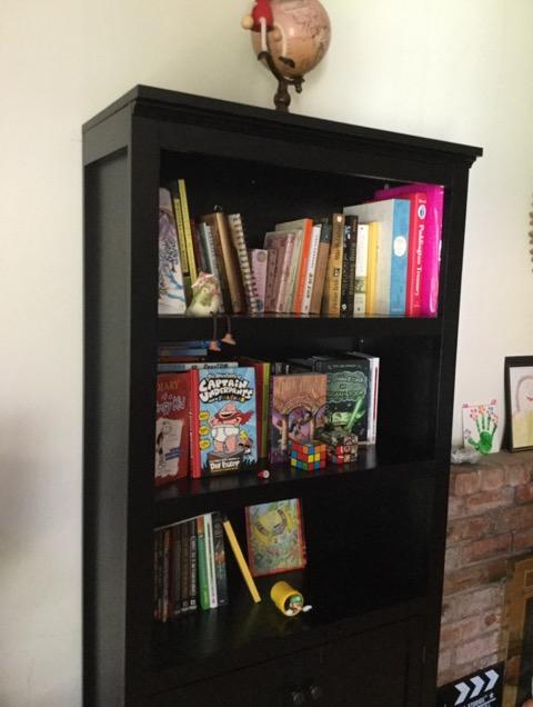 リビングルームの本棚