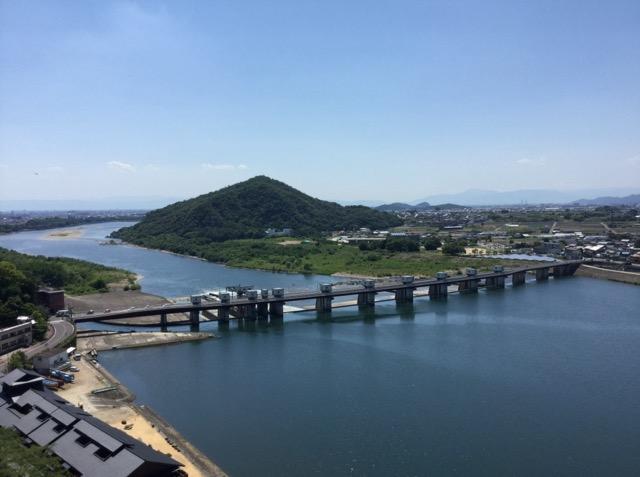犬山城天守閣からの眺め