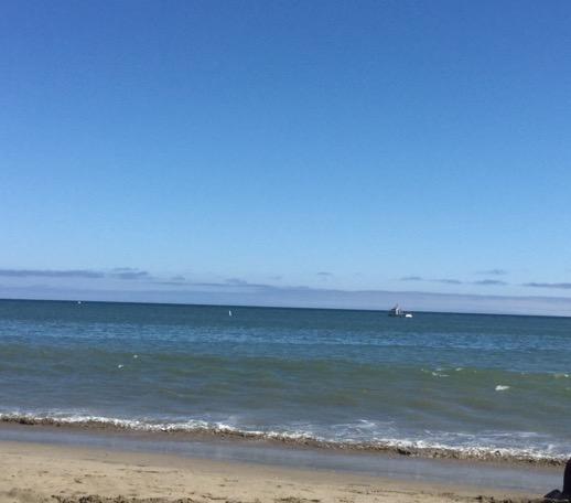 サンタクルーズの海