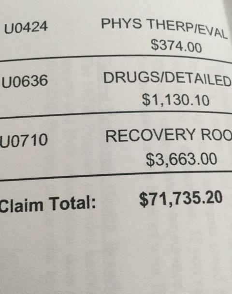 病院からの請求書